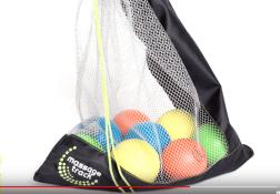 Deep Recovery massage balls in mesh bag.